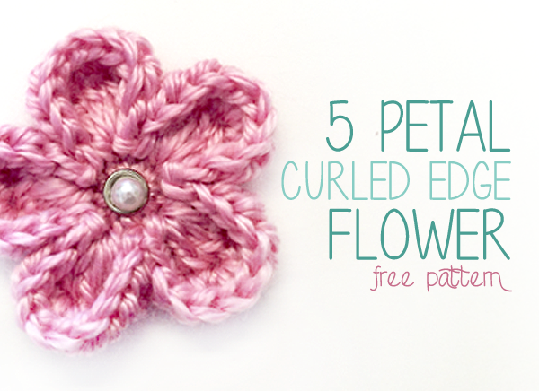 Free Crochet Pattern 40 Petal Curled Edge Flower Little Monkeys New Crochet Flowers Patterns