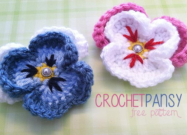 Free Pattern Pansy Flower Crochet Pattern Little Monkeys Crochet