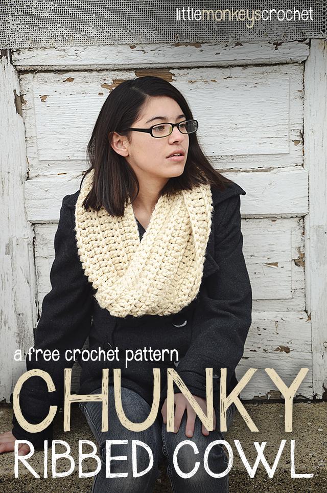 Chunky Ribbed Cowl Free Pattern Little Monkeys Crochet