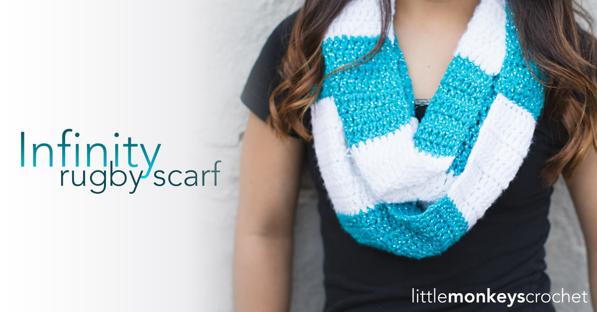 Free Crochet Pattern Rugby Infinity Scarf Striped Infinity Scarf