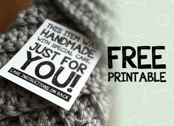 Printable Labels For Handmade Items