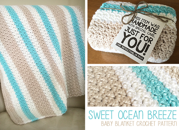 Sweet Ocean Breeze Baby Blanket Crochet Pattern By Little Monkeys Classy Bernat Blanket Yarn Crochet Patterns