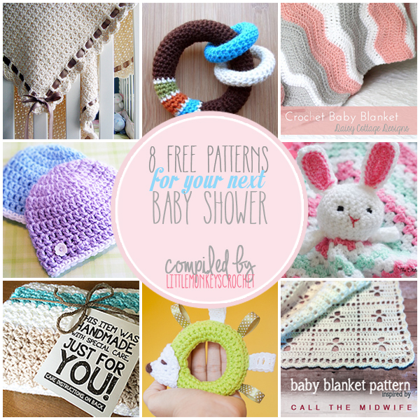 Simple Crochet Pattern For A Baby Blanket : Roundup: 8 Free Patterns for Your Next Baby Shower ...