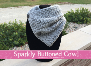 Sparkly Buttoned Cowl | Free Crochet Pattern by Little Monkeys Crochet