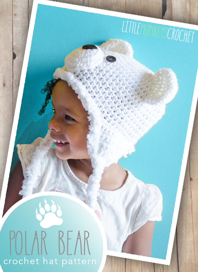1a20194722a Polar Bear Hat (free 6-12m pattern)