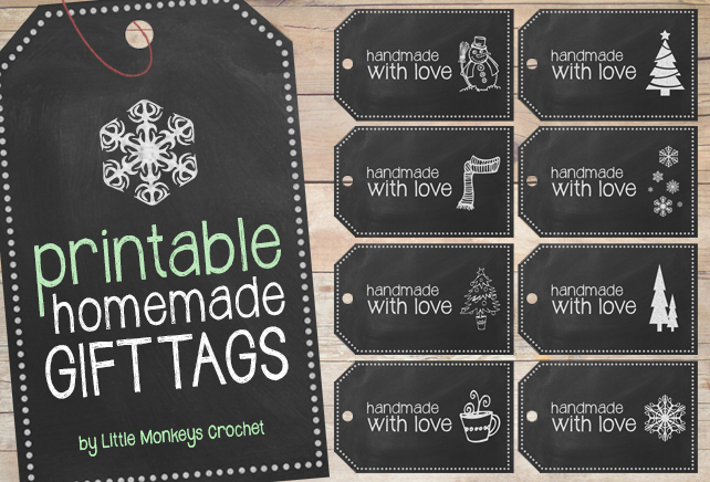 Free Printable: Handmade Chalkboard Gift Tags | Little Monkeys Crochet