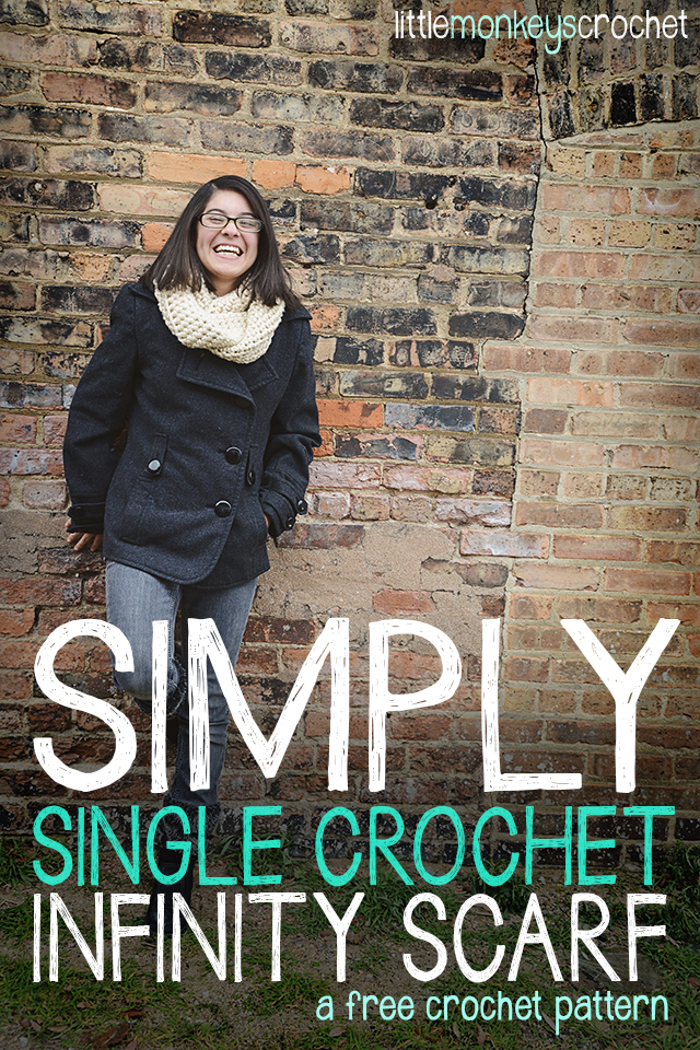 Simply Single Crochet Sc Infinity Scarf Free Crochet