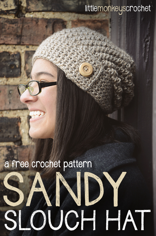 Sandy Slouch Hat (free pattern)