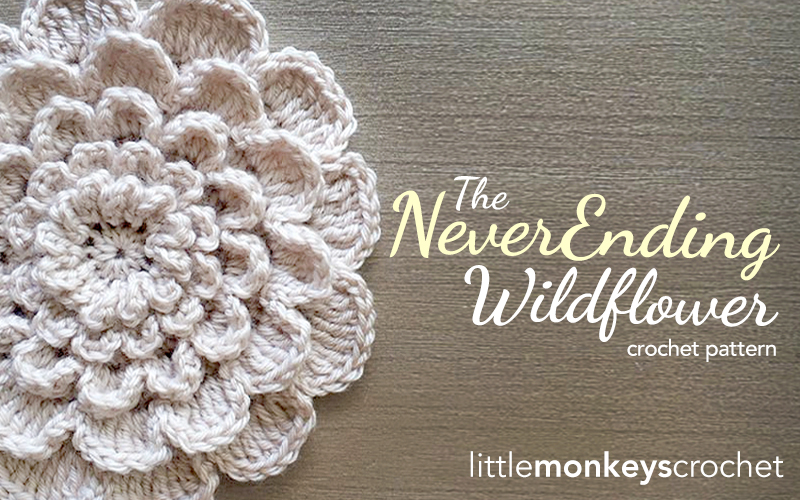 The Never Ending Wildflower Crochet Pattern  |  Free Crochet Pattern by Little Monkeys Crochet (www.littlemonkeyscrochet.com)