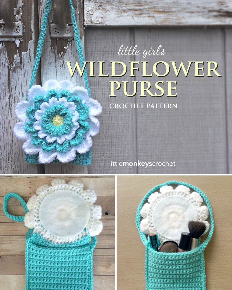 Crochet Patterns For Kids Bags : ... Wildflower Purse Free Crochet Pattern by Little Monkeys Crochet