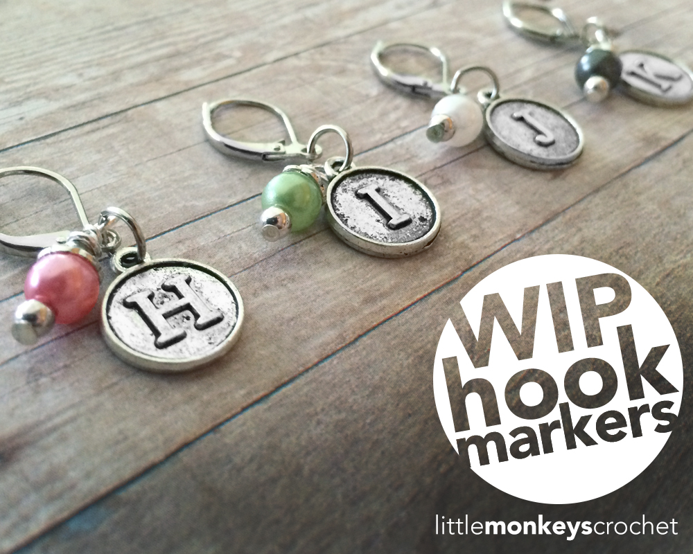 WIP Hook Markers Giveaway  |   by Little Monkeys Crochet