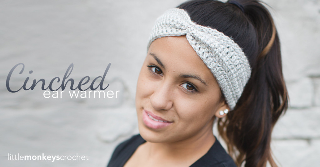 Cinched Ear Warmer Headband Pattern | Little Monkeys Crochet