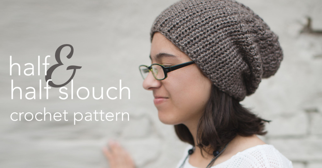 Half-n-Half Slouch Crochet Pattern | Little Monkeys Crochet