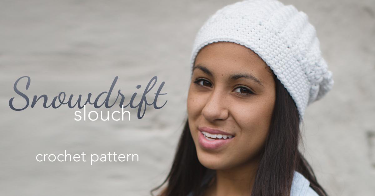 Snowdrift Slouch Crochet Pattern | Little Monkeys Crochet