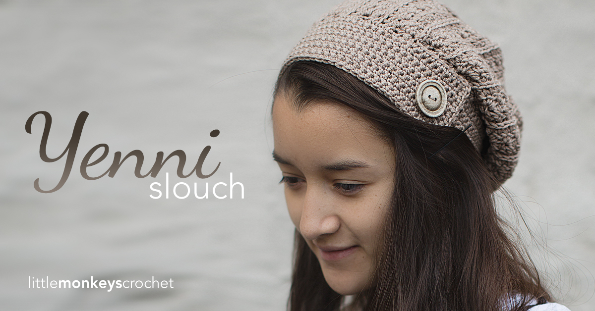 Yenni Slouch Hat Crochet Pattern Little Monkeys Crochet