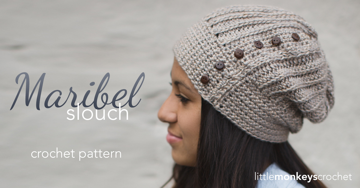 Maribel Slouch Crochet Hat Pattern Little Monkeys Crochet