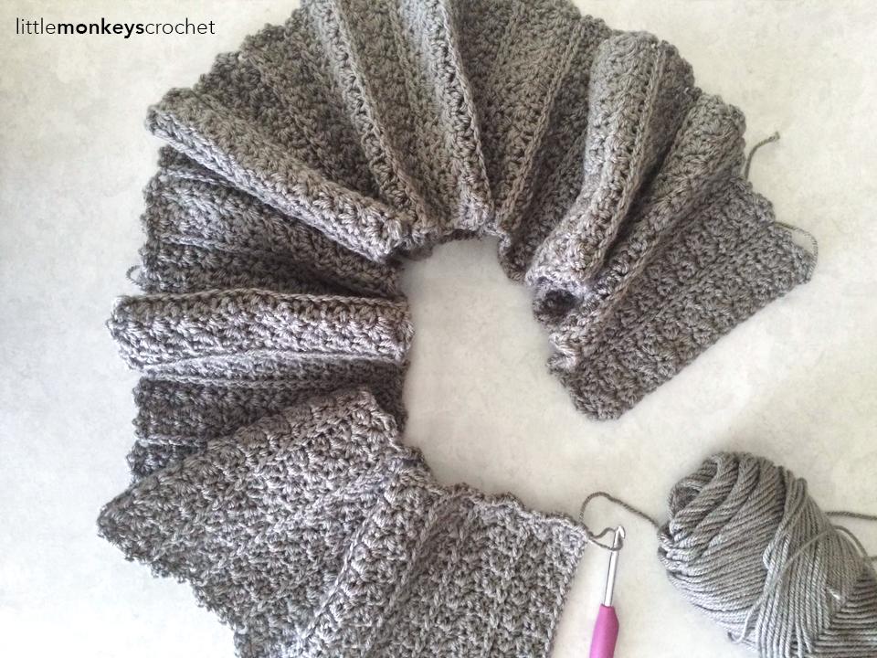 Yenni Infinity Fringe Scarf Crochet Pattern | Little Monkeys Crochet