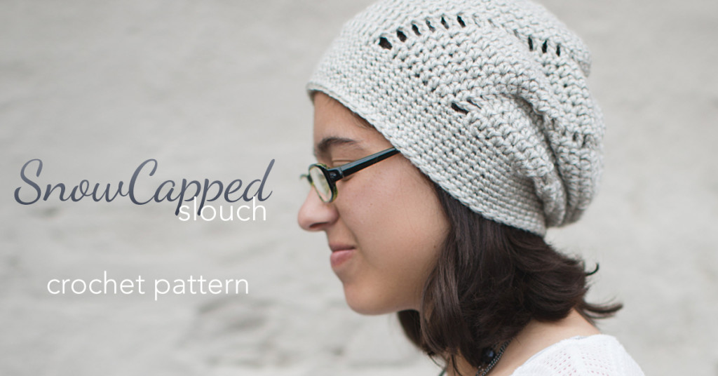 Snowcapped Slouchy Crochet Pattern | Little Monkeys Crochet