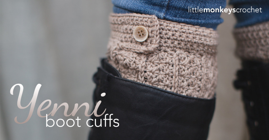 Yenni Slouch Crochet Boot Cuffs  |  Free Slouchy Hat Crochet Pattern by Little Monkeys Crochet