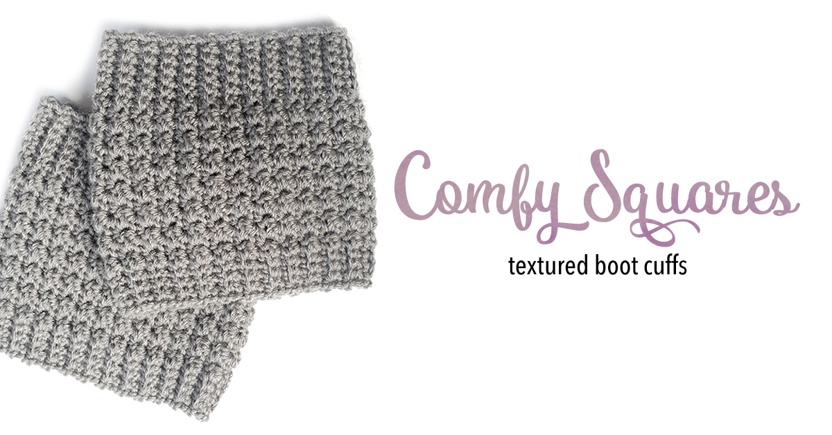Comfy Squares Textured Boot Cuffs Little Monkeys Crochet