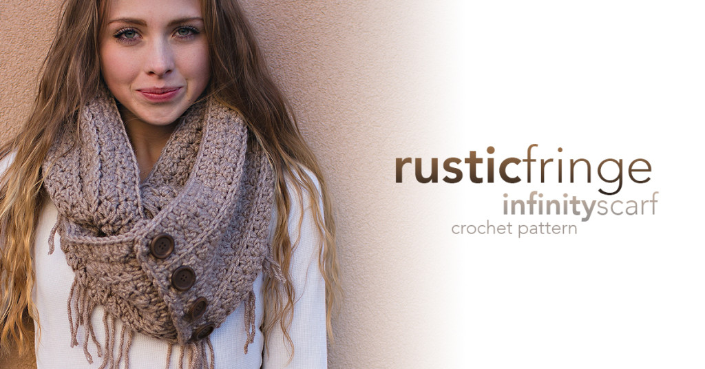Rustic Fringe Scarf Crochet Pattern | Little Monkeys Crochet