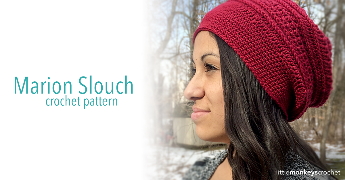 Marion Slouch Hat Crochet Pattern Little Monkeys Crochet