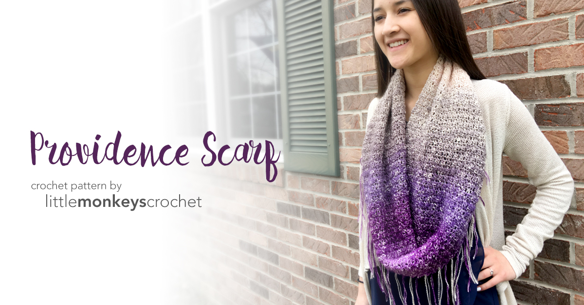 Providence Scarf | Little Monkeys Crochet