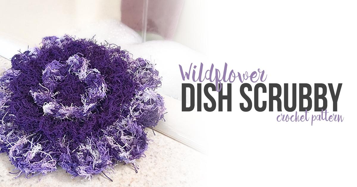 Wildflower Scrubby Crochet Pattern | Little Monkeys Crochet
