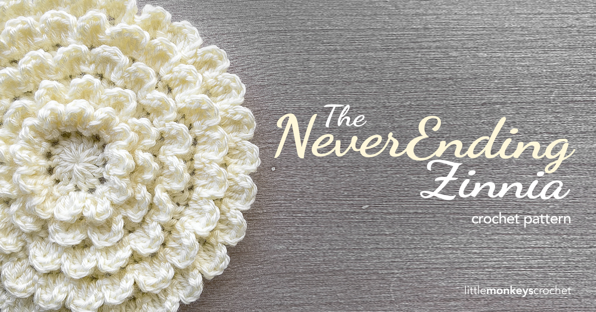 Crochet Zinnia Flower Pattern : Neverending Zinnia Crochet Pattern Little Monkeys Crochet