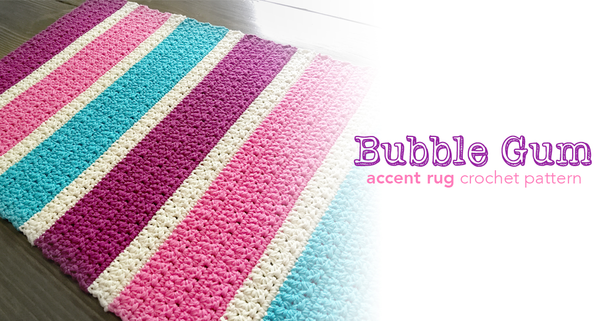 Bubble Gum Accent Rug Little Monkeys Crochet