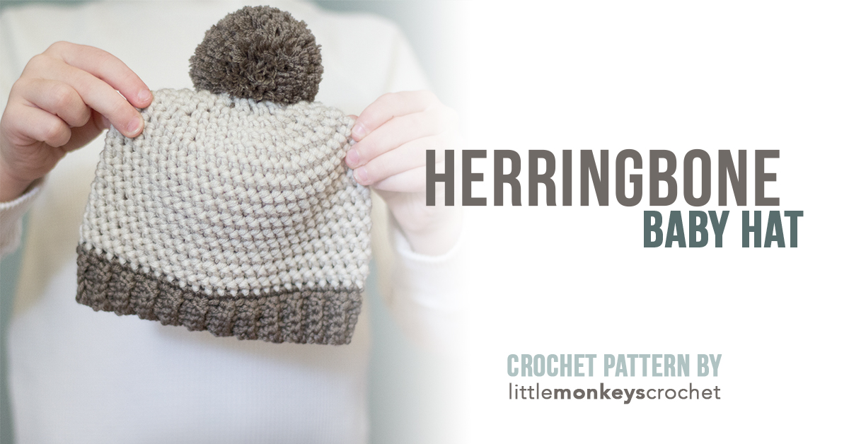 Herringbone Baby Hat Pattern Little Monkeys Crochet