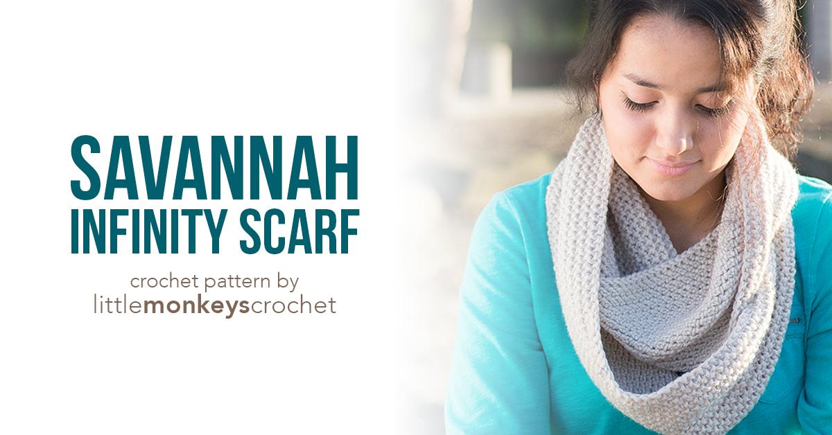 Savannah Infinity Scarf Pattern | Little Monkeys Crochet