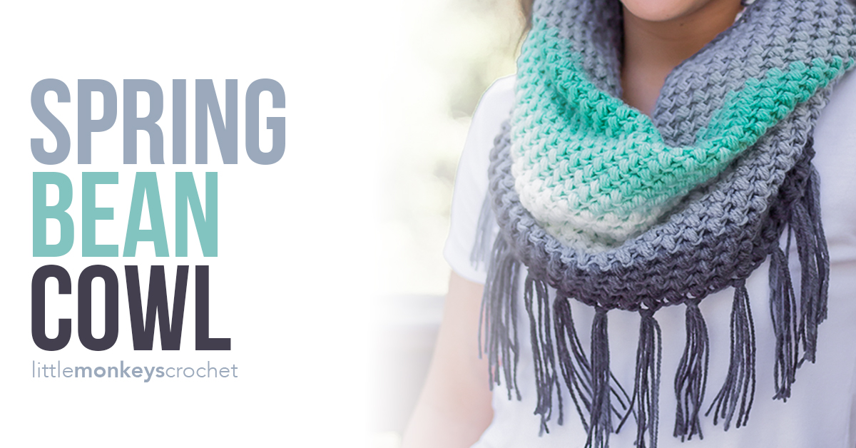 Spring Bean Cowl Crochet Pattern | Little Monkeys Crochet