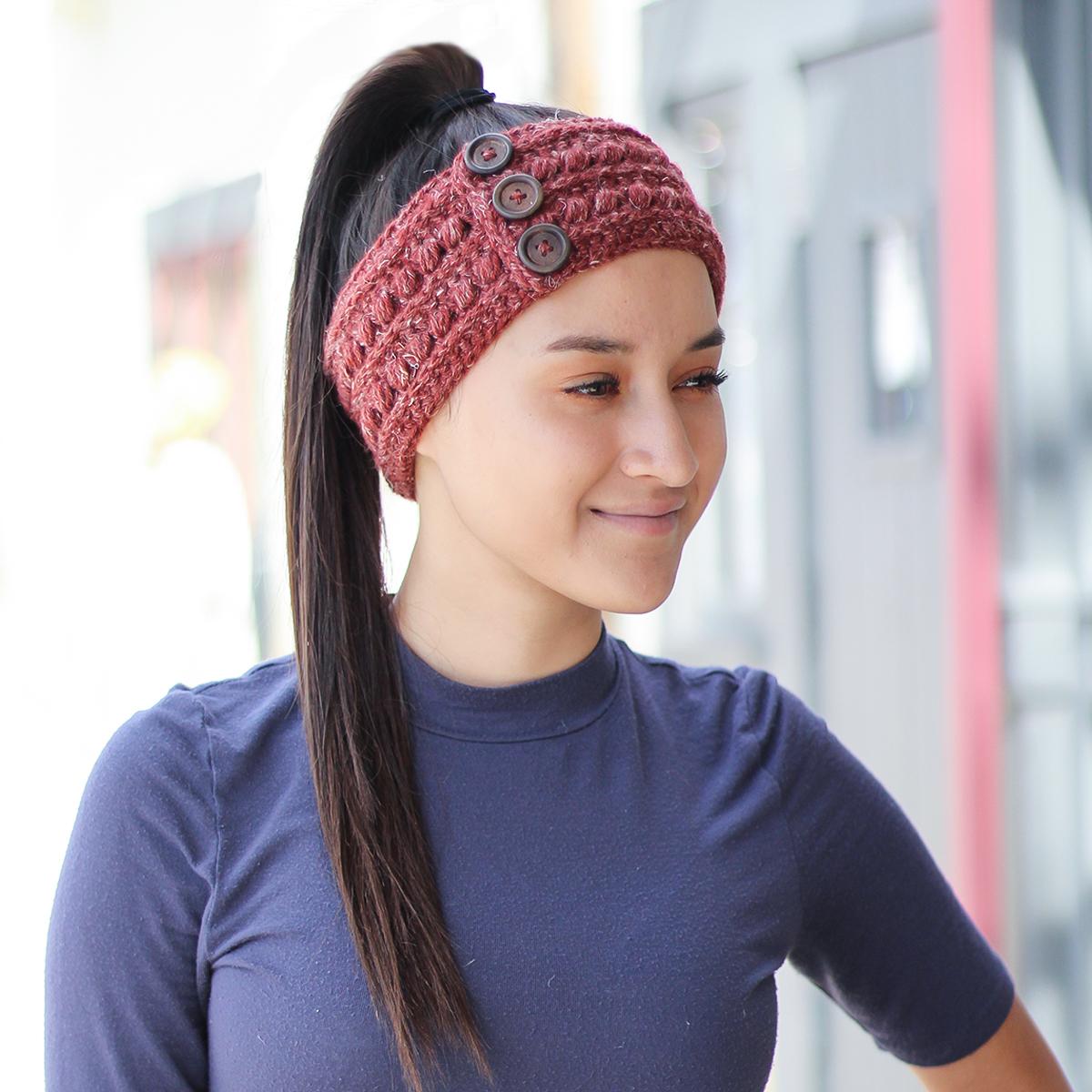 The Malia Earwarmer Little Monkeys Crochet